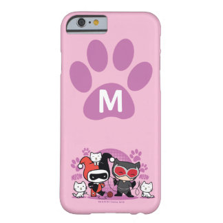 Monogram Chibi Harley Quinn & Catwoman With Cats Barely There iPhone 6 Case