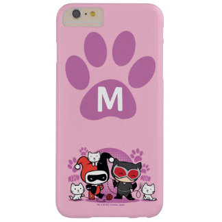 Monogram Chibi Harley Quinn & Catwoman With Cats Barely There iPhone 6 Plus Case