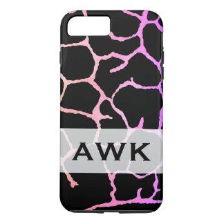 Monogram chic lux pattern black iPhone 8 plus/7 plus case