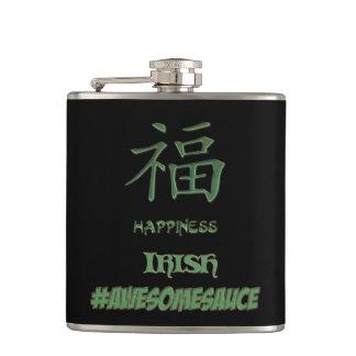 Monogram Chinese Irish Party #Awesomesauce Flask