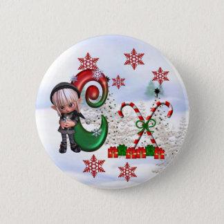Monogram Christmas Button C
