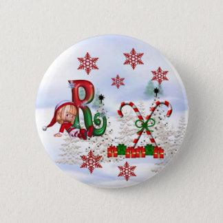 Monogram Christmas Button R