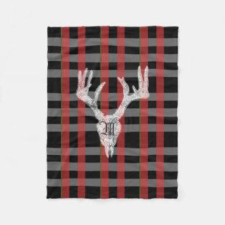 Monogram christmas check blanket