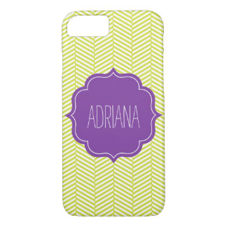 Monogram Citron Chevron with Purple iPhone 8/7 Case