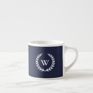 Monogram Classic Elegant Blue Espresso Mug