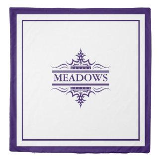 Monogram Classic Navy & White Duvet Cover 2 Sides