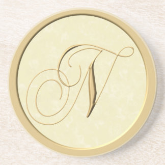 Monogram coasters - letter N
