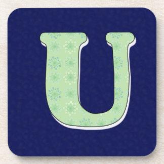 Monogram Coasters Letter U