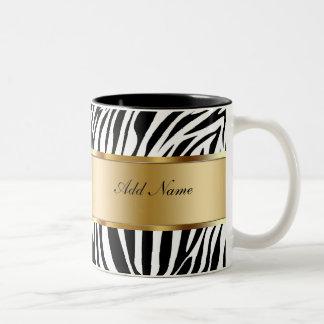 Monogram Coffee Mugs Zebra
