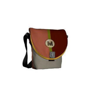 Monogram Color Block Saddle Bag Style Rickshaw Messenger Bag