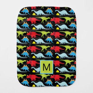 Monogram | Colorful Dinosaurs Burp Cloth