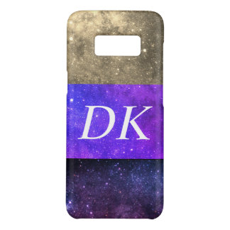 Monogram Colorful Galaxies green purple 2 Case-Mate Samsung Galaxy S8 Case