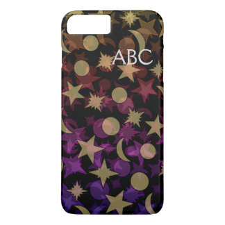 MONOGRAM COLORFUL STARS AND MOON by Slipperywindow Case-Mate iPhone Case