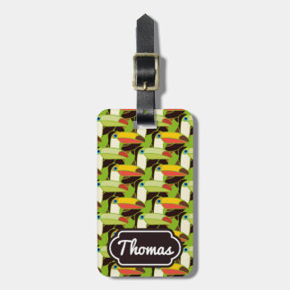 Monogram Colorful Toucans Luggage Tag