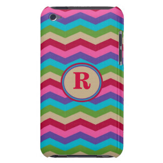 Monogram Colorful Zig Zag Stripes Case-Mate Case