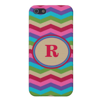 Monogram Colorful Zig Zag Stripes Speck Case Covers For iPhone 5