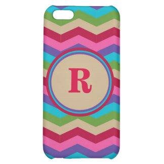 Monogram Colorful Zig Zag Stripes Speck Case iPhone 5C Case
