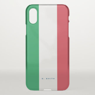 Monogram. Colors of Italy Flag. iPhone X Case