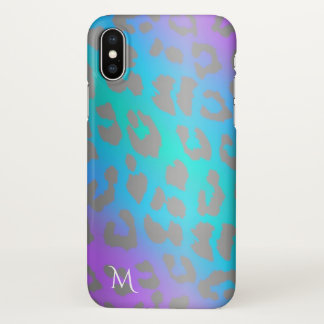 Monogram Cool Electric Leopard Print iPhone X Case