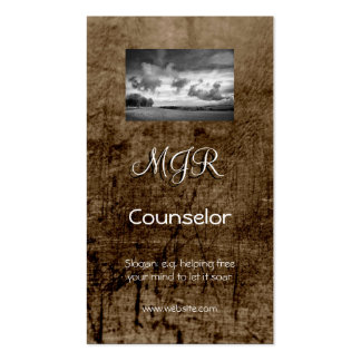 Monogram, Counselling Services, leather-effect Pack Of Standard Business Cards