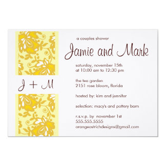 Monogram Couples Shower Invitation