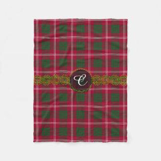 Monogram Crawford Tartan Fleece Blanket