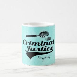 Monogram Criiminal Justice Graduate Coffee Mug