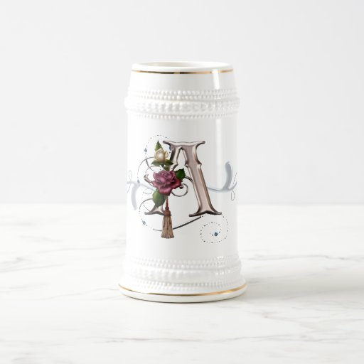 Monogram Cup Mug Rose A
