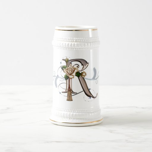 Monogram Cup Mug Rose R