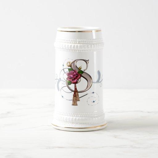 Monogram Cup Mug Rose S