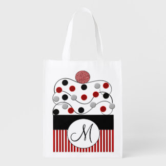 Monogram Cupcake Sprinkles Reusable Bag