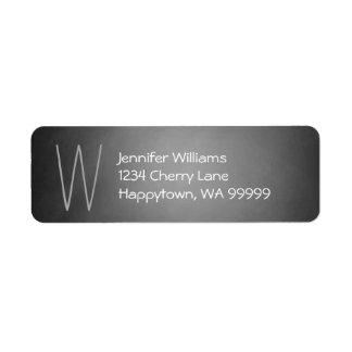 Monogram Custom Chalkboard Vignette Return Address