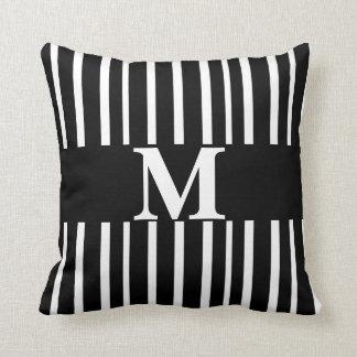 monogram custom pillow modern chic stripes