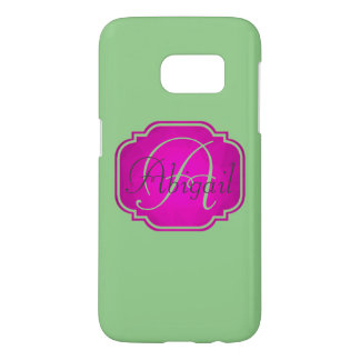 Monogram - Customizable Pink and Green Samsung Galaxy S7 Case