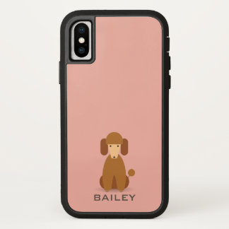 Monogram. Cute Dog. iPhone X Case