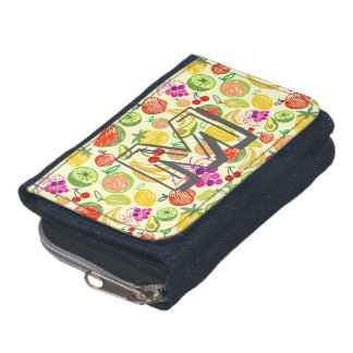 Monogram Cute Fruits Pattern Wallet
