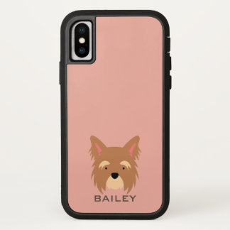 Monogram. Cute Puppy Dog. Case-Mate iPhone Case