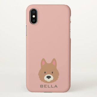 Monogram. Cute Puppy Dog. iPhone X Case