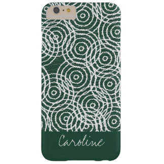 Monogram Cyan Wood Ikat Circles Geometric Pattern Barely There iPhone 6 Plus Case