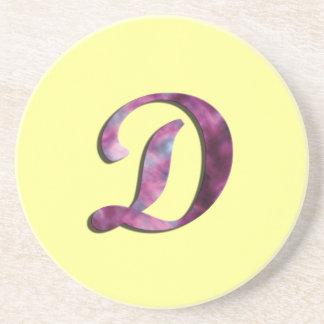 Monogram D Coaster