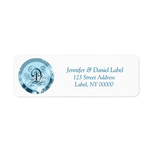 Monogram D Home Address Labels