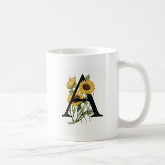 Monogram Daisy A Mug