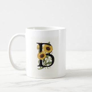 Monogram Daisy B Mug