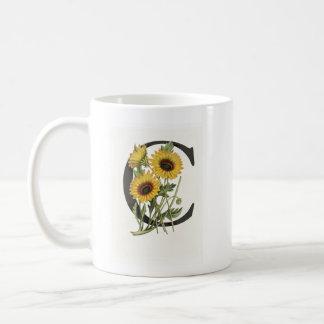 Monogram Daisy C Mug