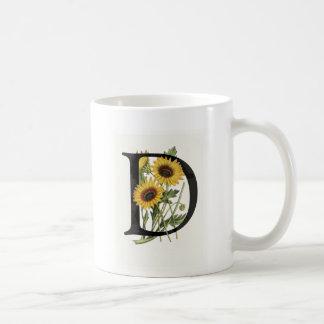 Monogram Daisy D Mug