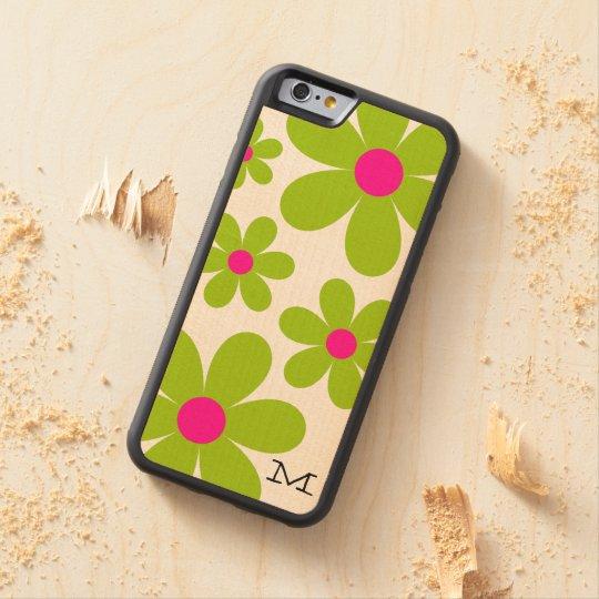 Monogram Daisy iPhone 6/6S Wood Case
