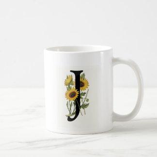Monogram Daisy J Mug