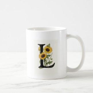 Monogram Daisy L Mug