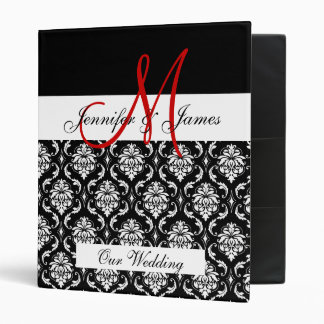 Monogram Damask Wedding Planner Binder