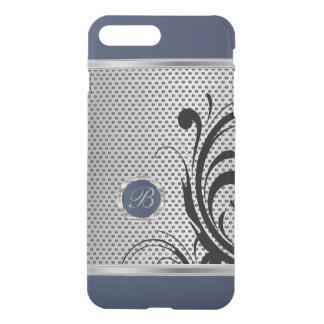 Monogram Dark Blue and Silver Mesh iPhone 8 Plus/7 Plus Case